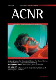 Review Articles: The Genetics of Stroke; The Current Status ... - ACNR
