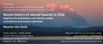 Recent history of natural hazards in Chile