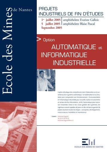 AUTOMATIQUE et INFORMATIQUE INDUSTRIELLE - Ecole des ...