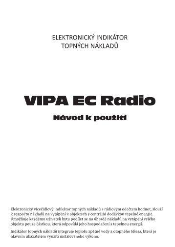 Návod k indikátoru VIPA EC Radio - VIPA CZ sro