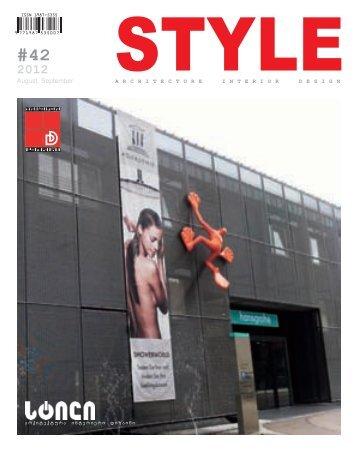 """""""stilis"""" da """"arqiteqtorTa klubis"""" - Style Magazine"""