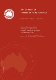 The Journal of Stomal Therapy Australia - Australian Association of ...