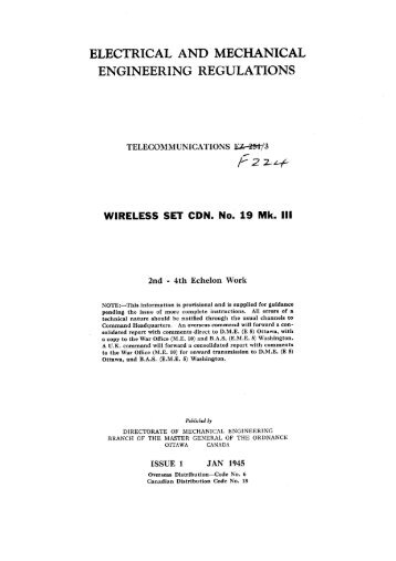 Wireless Set (Canadian) No.19 Mk3 2nd - 4th ... - VMARSmanuals