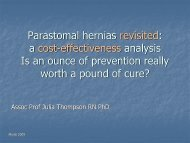 Parastomal hernias revisited - Omnigon - Stoma Support Garments