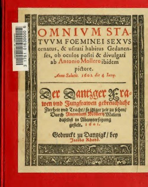 Danziger Frauentrachtenbuch