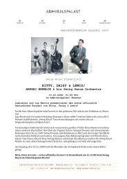KITTY, DAISY & LEWIS/ - Admiralspalast