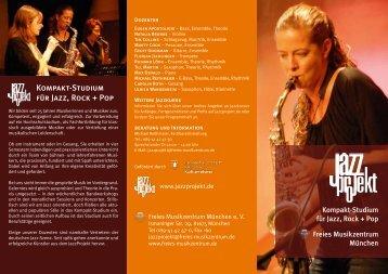Flyer JazzProjekt Studium - Freies Musikzentrum München