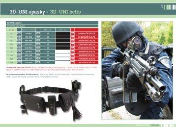 3D–UNI opasky | 3D–UNI belts - TARM