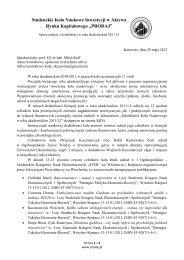 Studenckie Koło Naukowe Inwestycji w Aktywa Rynku ... - Prodaj