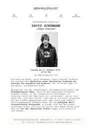 DAVID SCHUMANN - Admiralspalast