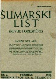ŠUMARSKI LIST 2/1935