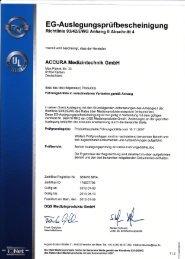 Zertifikat - Über Accura