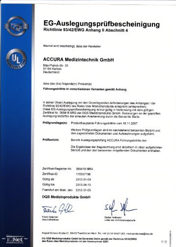 EG-ZERTIFIKAT - CEATEC Medizintechnik
