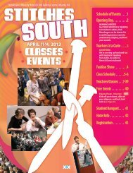 STITCHES South 2013 Classes & Events Brochure - Knitting Universe