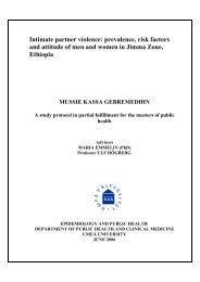 2006:21 Mussie Kassa Gebremedihn. Intimate partner violence