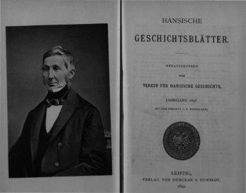 GESCHICHTSBLÄTTER - Hansischer Geschichtsverein