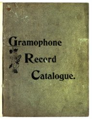 Gramophone Record Catalogue 1899 - British Library - Sounds