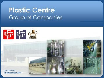 Click to add title - Plastic Centre Group of Companies
