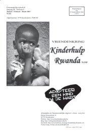 N°83 - maart 2013 - Vriendenkring Kinderhulp Rwanda