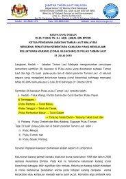 jabatan taman laut malaysia kenyataan media oleh y.bhg tn. hj. abd ...