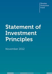 Statement of Investment Principles - Pension Protection Fund