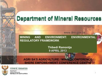 Proposed amendmente to the MPRD Act - Agrisa.co.za