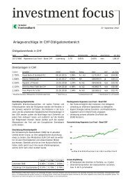 Investment Focus CHF, 27.09.2012 SNB wird an