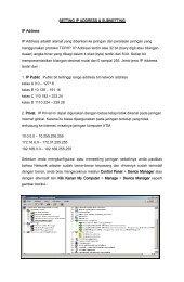 SETTING IP ADDRESS & SUBNETTING IP Address IP Address ...