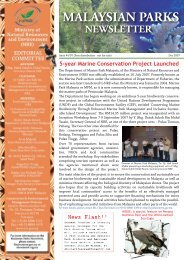 Malaysian Parks Newsletter Issue 4 December 2007 - NRE