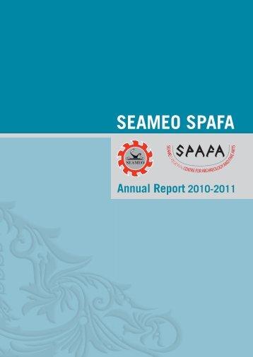annual report 2010-2011 - seameo-SPAFA