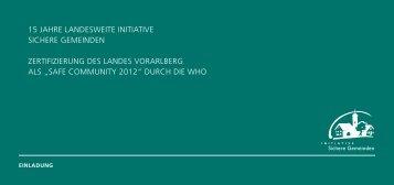 15 Jahre landesweite initiative sichere Gemeinden Zertifizierung des