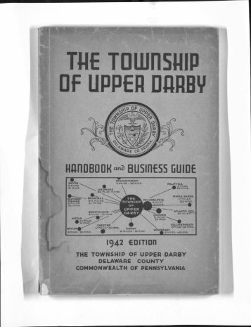 Township of Upper Darby Handbook 1942 - Delaware County PA ...
