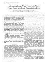 Integrating Large Wind Farms into Weak Power Grids with Long ...