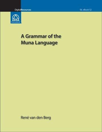 A Grammar of the Muna Language - SIL International