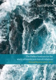 The Parkes Institute Annual Review 2010-2011 - University of ...