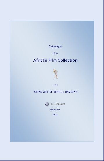African Film Collection - UCT Libraries - University of Cape Town