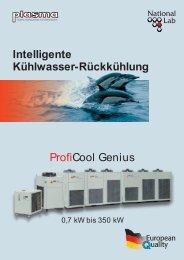 Übersicht Kühlwasser Rückkühlung ProfiCool Genius - plasma GmbH