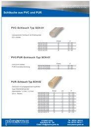 Schläuche aus PVC und PUR - plasma GmbH