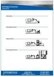 Schüttgut-Container Übersicht - plasma GmbH
