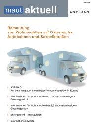 Bemautung von Wohnmobilen auf Österreichs ... - Peter Scharl
