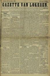Zondag 15 November 1891. Lokeren 14 Nov.