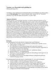 Vacature voor de postdoctorale opleiding tot: GZ ... - RINO Groep