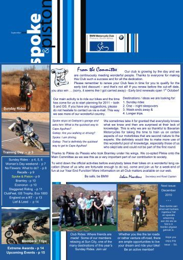 mar / apr - bmw motorcycle club of pretoria, south africa