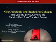 Killer Asteroids and Exploding Galaxies—The Catalina Sky Survey ...