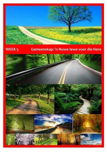 WEEK 5 Gemeenskap: 'n Nuwe lewe voor die Here - Suiderkruis ...