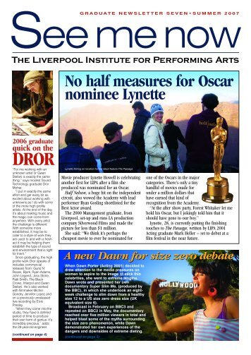 LIPA NEWSLETTER 5 - The Liverpool Institute for Performing Arts
