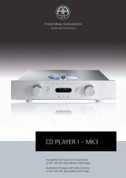 CD-PLAYER I - Accustic Arts
