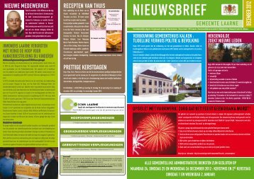 nieuwsbrief december 2012 - Gemeente Laarne