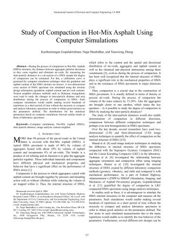 Study of Compaction in Hot-Mix Asphalt Using Computer Simulations