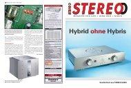 Sonderdruck aus STEREO 9/2010 Hybrid ohne Hybris - Accustic Arts